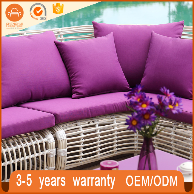 Factory Direct Wholesale Garden Wicker PE Rattan Sofa Set Otdoor ...