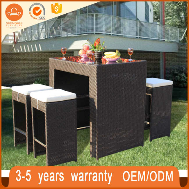 High Quanlity Hand Weave Wicker Table Outdoor Patioplastic Weaving  Cane(SH TB115)