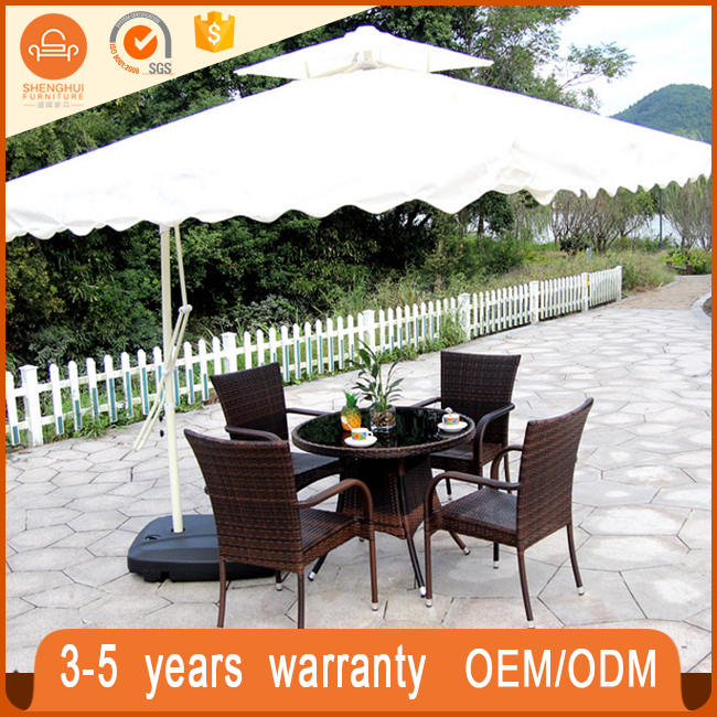 round dining table and chair rattan outdoor furniture restaurant table sh tb154 - Rattan Garden Furniture 6 Seater