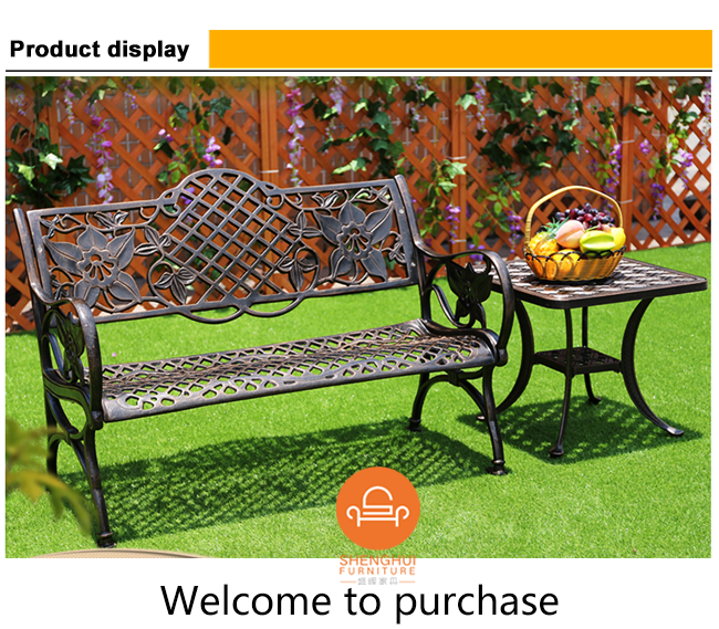 Feet Long Metal Park Bench Leg Garden Chair With Side Table Cast - Park bench and table