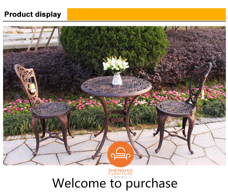 direct manufacturer supply garden furniture dining set cast