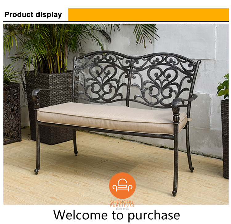 Hot Selling Cheap Waterproof Aluminum Public Long Chair Outdoor