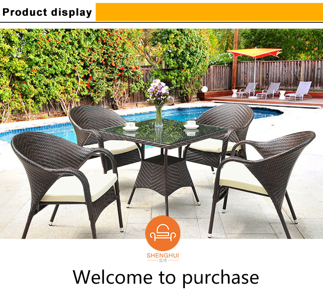 Outdoor Table And Chairs For Cafe Bar Pe Rattan Antique Indian