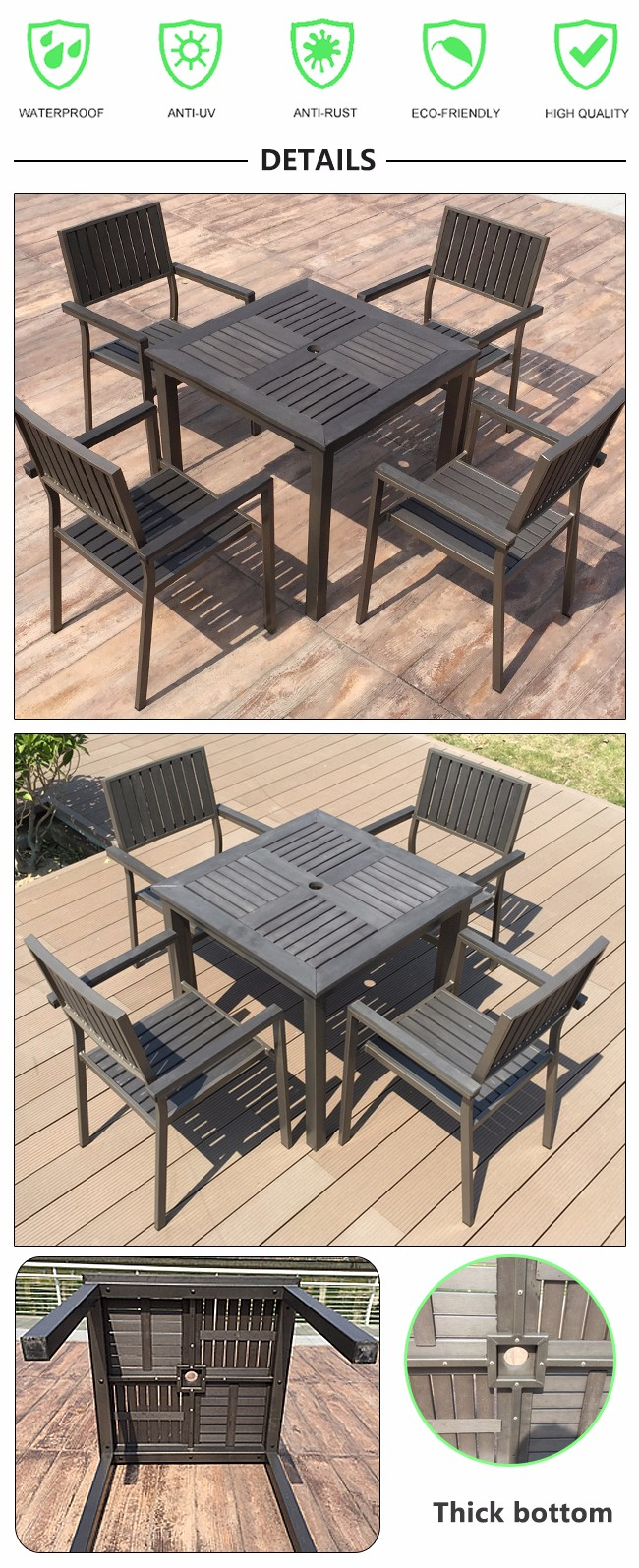Outdoor homemade coffee shop tables and chairs wood plastic you are here home wpc furniture outdoor homemade coffee shop tables geotapseo Gallery